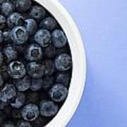 Bowl Of Blueberries Poster by Steven Raniszewski