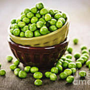 Bowl Of Peas Poster by Elena Elisseeva