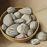 Bowl Of Pebbles Poster