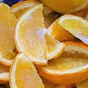 Bowl Of Sliced Oranges Poster