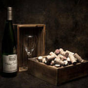 Box Of Wine Corks Still Life Poster