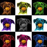 Boxer Mix Dog Art - 8173 - V1 - M Poster