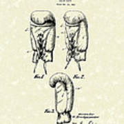 Boxing Glove 1925 Patent Art Poster