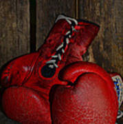 Boxing Gloves Worn Out Poster by Paul Ward