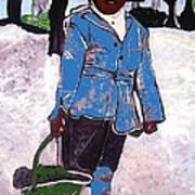 Boy Carrying Coal Circa 1901 Poster