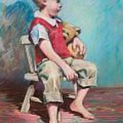 Boy In Chair Poster