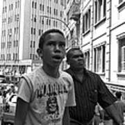 Boy In The Crowd - Sao Paulo Poster