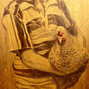Boy With Chicken Poster