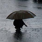 Boy With Umbrella Poster