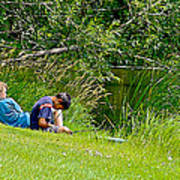 Boys Fishing In Pipestone National Monument-minnesota Poster