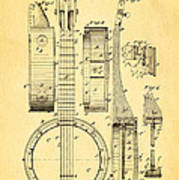 Bradbury Banjo Patent Art 1882 Poster