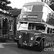 Bradford Bus In Mono  Poster