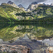 Bradley Lake Reflection - Grand Teton National Park Poster