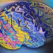 Brain Colours Poster by Soumya Bouchachi
