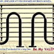 Brain Waves Valentine Poster