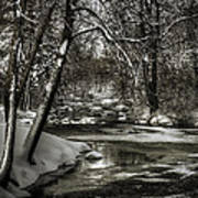 Brainards Bridge After A Snow Storm 4 Poster