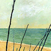 Branches On The Beach - Oil Poster
