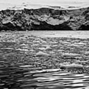 brash sea ice forming in front of glacier wall face port lockroy Antarctica Poster