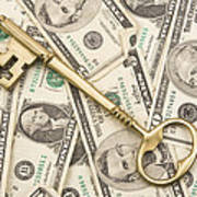Brass Key To Success Money Poster