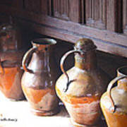 Brass Pots From 16th Century Columbus Home Poster