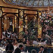Brasserie Bofinger In The Rue De La Bastille, Paris, 1999 Oil On Canvas Poster