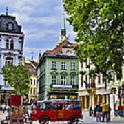 Bratislava Town Square Poster by Jon Berghoff