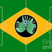 Brazilian Football Field Poster