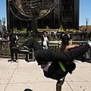 Break Dancer  Columbus Circle Poster