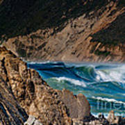 Breakers At Pt Reyes Poster by Bill Gallagher