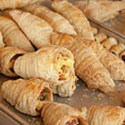 Breakfast Croissant Poster