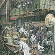 Breaking Bulk On Board A Tea Ship Poster