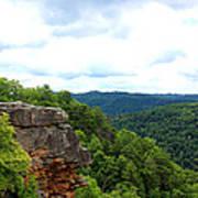 Breaks Interstate Park Virginia Kentucky Rock Valley View Overlook Poster