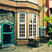 Bremen Schnoor Cafe Poster