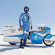 Brett De Stoop And His Suzuki Gt 750 Poster