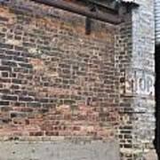 Brick Building Stop Poster