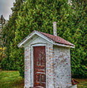 Brick Outhouse Poster