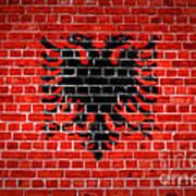 Brick Wall Albania Poster