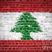 Brick Wall Lebanon Poster
