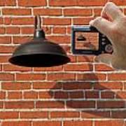 Brick Wall Snap Shot Poster