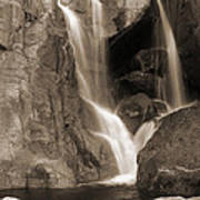 Bridalveil Falls In Yosemite Sepia Version Poster