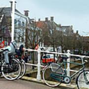 Bridge Across Canal - Amsterdam Poster