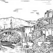 Bridge At Morstar Poster