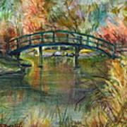 Bridge At The Botanical Gardens Poster