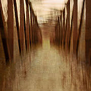 Bridge In Abstract Poster