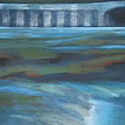 Bridge In Flood Stage Poster