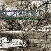 Bridge In Snow Poster