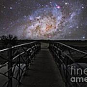 Bridge On A Distant Planet Poster