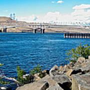 Bridge Over Columbia River At Umatilla-or  Poster