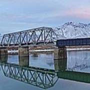 Bridge Over Tranquil Waters In Kamloops British Columbia Poster