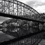 Bridge Reflections In Autumn Poster